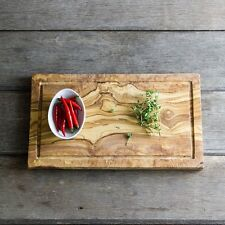 Olive Wood Chopping Board With Jus Groove - Length 27cm (WSCP27Jus)