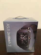 "Asus Zenwatch 2 WI501Q 1.63"" Smartwatch for Android - Brown Rubber"
