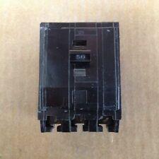 Square D Qo Qo350 3 Pole 240V 50 Amp 10kA Circuit Breaker Black Snap In