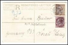 Aden -India Registered Postal Envelope uprated SG#90,#89(x2)#111(pair)#85(pair)