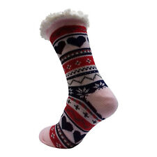 LADIES WARM THERMAL INSULATED THICK WINTER SOCKS 4.7 TOG UK 6-11 399D PINK HEEL