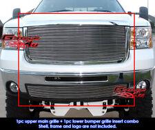 Fits GMC Sierra 2500HD/3500HD Billet Grill Insert Combo 07-10