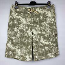 PATAGONIA Men's Camo Board Shorts Size 32 Wavefarer Swim Trunks Cargo Pocket