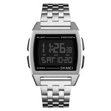 SKMEI Men Luminous Digital Stainless Steel Band Electronic Watch Wrist Watches