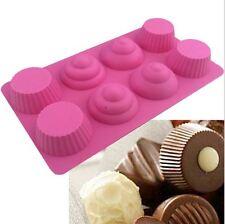 8 cavity Cupcake Tops n Bottoms silicone fondant mould  sugarcraft, chocolates