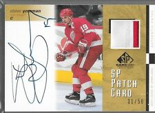 01/02 SP Game Used Auto Patch Steve Yzerman /50 SP-SY Wings