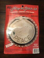 Candlewick Christmas Wall Plaque Kit PEACE Creative Moments 1983 #8634