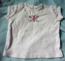Baby Gap T-Shirt mit Schmetterling bestickt 3-6 Mon