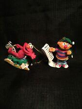 Lot of 2 1992 Christmas on Sesame Street Elmo And Ernie Ornaments