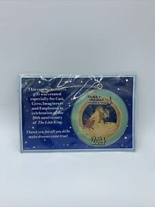 Cast Member Exclusive DISNEY Lion King  Ornament 2014 Family Holiday