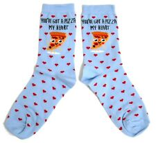 LADIES YOU STOLE A PIZZA MY HEART BLUE SOCKS UK 4-8 EUR 37-42 USA 6-10