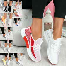 Women Ladies Mesh Lace Up Trainers Running Sneakers Casual Fitness Shoes Size UK