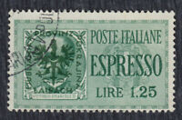 Germany occupation of Slovenia 1944 Italian express stamp with overprint, used