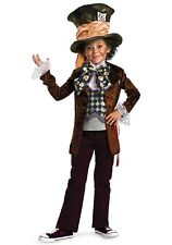 KIDS DELUXE MAD HATTER COSTUME SIZE SMALL (missing hat and bow)