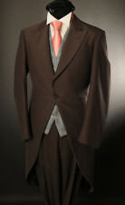MJ-2 MEN'S CHOCOLATE BROWN 2PC MORNING TAIL SUIT IDEAL FOR ASCOT/WEDDING/SALE
