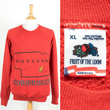 VINTAGE 80'S UNIVERSITY OF NEBRASKA SWEATSHIRT CORNHUSKERS USA MADE SWEATER  XL
