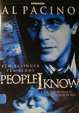 PEOPLE I KNOW (2002) Al Pacino Kim Basinger Tea Leoni Ryan O'Neal Robert Klein