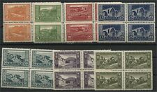 Albania, Definitives Views Of Albania, 1922 Mint Never Hinged Set Blocks Of 4