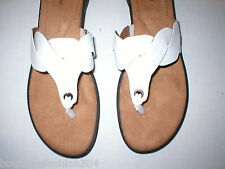 New Womens 11 Naturalizer Flip Flop Sandals Shoes White Comfort Tan Black Nice