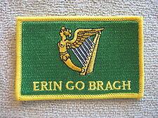 "Ireland ""Erin Go Bragh"" Flag Patch Erin Go Bragh Patch Irish Harp Ireland AOH"