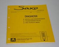 Manual de Instrucciones de Diagnóstico Citroen Saxo Stand 09/1998