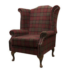 Armchair In A Red U0026 Green Tartan Fabric