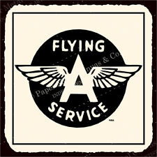 (VMA-G-1110) Flying A Service Vintage Airplane Aviation Tin Metal Retro Tin Sign