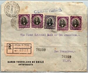 GP GOLDPATH: CHILE COVER 1922 REGISTERED LETTER _CV742_P02
