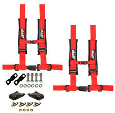 "PRP 4 Point 2"" Harness Seat Belts Automotive Latch Harness Kit Red YXZ 1000R"