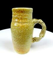 "BASIN CREEK POTTERY ECKMAN SIGNED PINCHED HANDLE SLIP GLAZE 5 1/4"" MUG"