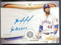 YORDAN ALVAREZ ⭐ 2021 Topps Definitive ON CARD Inscription Auto /50 Houston