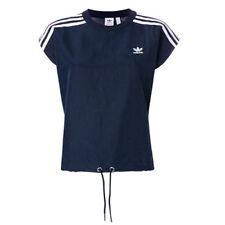 Camisas y tops de mujer azules adidas de poliéster