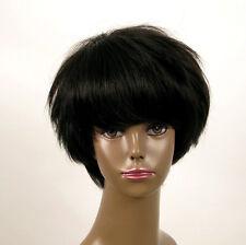 perruque afro femme 100% cheveux naturel courte noir ref WHIT 07/1b
