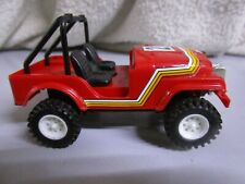 Coche scalextric STS 4x4 made in spain 9cm aprox Jeep rojo