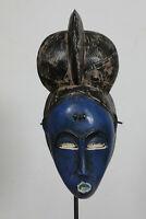 BI2 Baule Maske alt Afrika / Masque baoule ancien / Tribal baule mask