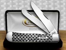 CASE XX White Pearl Corelon Basketweave 1/600 Trapper Pocket Knives Knife