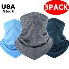 (Pack of 3) Face Mask Balaclava Scarf UV Sun Shield Neck Gaiter Bandana Headband