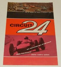 Catalogue CIRCUIT 24 Les 24 Heures du Mans à l'échelle 1/30ème PIERRES MAGIQUES