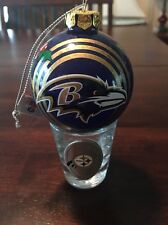 Baltimore Ravens Ornament And Steelers Shot glass.