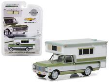 1972 Chevrolet C10 Cheyenne Vert & Camping-Car Hobby Exclusif 1/64 Greenlight
