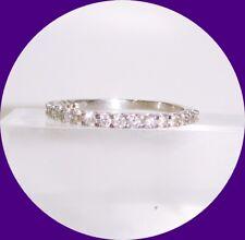 Lovely 14k White Gold Diamond Band Ring-- Size 9.25