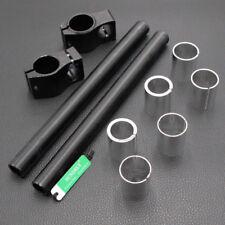 26/30/31/33mm Black Adjustable CNC Clip On Handlebars Fork Tube Bar Motorcycle
