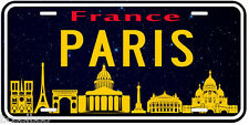 Paris France Aluminum Novelty Car License Plate