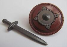 Playmobil Knight/Castle/Viking/Barbarian extras: Sword & round shield NEW