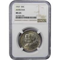 1937 Battle of Antietam Commemorative Half Dollar MS 65 NGC 90% Silver 50c Coin