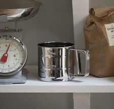 Vintage Flour Sifter By Garden Trading - Stainless steel