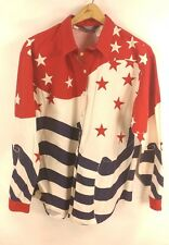 Brooks & Dunn Panhandle Slim Collection American Flag Western Shirt - Large 90's
