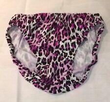 Large Black Purple Leopard print  Nylon Spandex Men Bikini Underwear