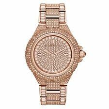 Michael Kors MK5862 Ladies Rose Gold Camille Glitz Watch - 2 Years