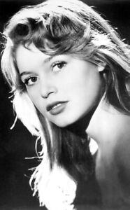 Photo ancienne, Brigitte Bardot, actrice, France, poster noir et blanc, femme